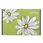 Whimsical Daisy with Lime Green Background Case For iPad Air