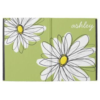 Whimsical Daisy with Lime Green Background iPad Pro Case
