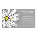Whimsical Daisy - yellow gray Business Card