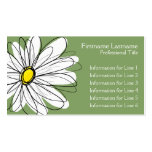 Whimsical Daisy - yellow green Business Card Templates