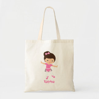 Whimsical Dance Ballerina Pink TuTu Carry All Tote Bag