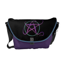 Whimsical Dancing Pentacle Messenger Bag