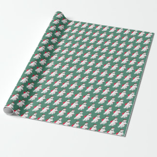 Whimsical Dancing Polar Bear Christmas Wrapping Wrapping Paper
