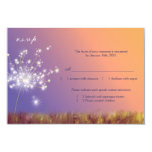Whimsical Dandelion Floral Wedding RSVP (3.5x5) Personalized Announcement