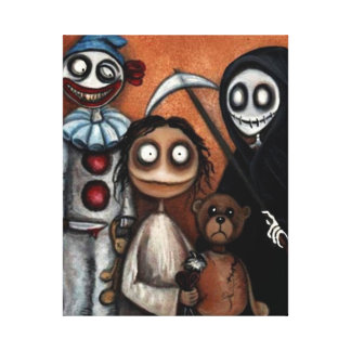 Whimsical Dark Creepy Art Canvas Print