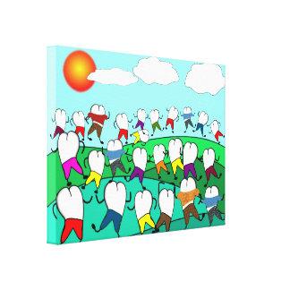 Whimsical Dental Art Wrapped Canvas Canvas Prints