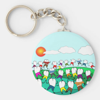 Whimsical Dental  Tooth Art Gifts Basic Round Button Keychain