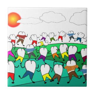 Whimsical Dental  Tooth Art Gifts Ceramic Tiles
