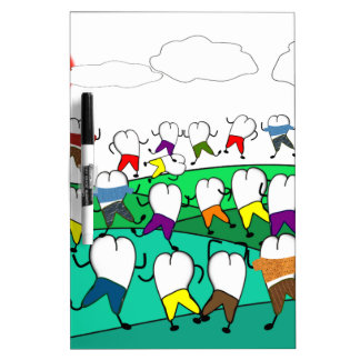 Whimsical Dental  Tooth Art Gifts Dry Erase White Board