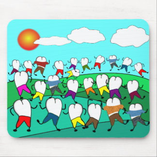 Whimsical Dental  Tooth Art Gifts Mouse Pad