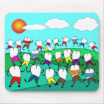 Whimsical Dental  Tooth Art Gifts Mousepads