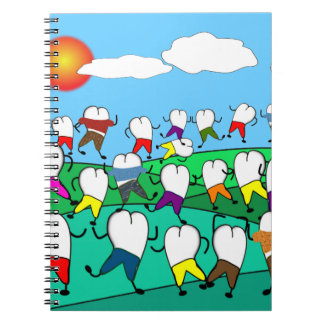Whimsical Dental  Tooth Art Gifts Notebooks