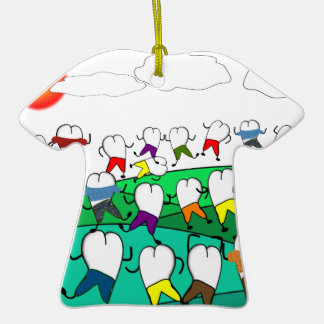 Whimsical Dental Tooth Art Gifts Christmas Tree Ornament