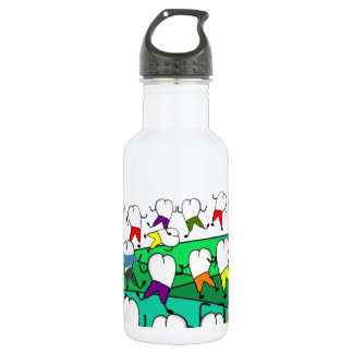 Whimsical Dental  Tooth Art Stainless Steel Water Bottle