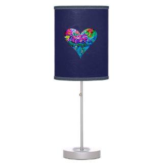 Whimsical Designer Art Hearts Table Lamp Midnight