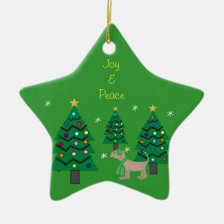 whimsical dog Christmas ornament