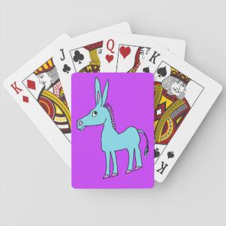 whimsical donkey playing cards