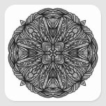 Whimsical Doodle Square Stickers