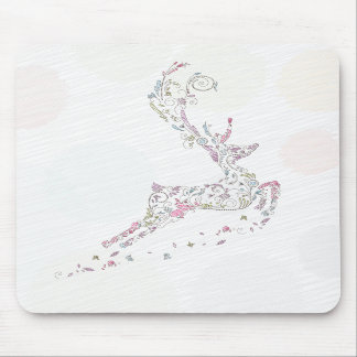whimsical doodles christmas reindeer mouse pads