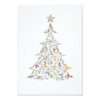 whimsical doodles christmas tree card
