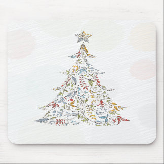 whimsical doodles christmas tree mouse pads