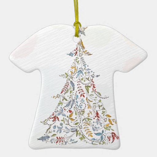 whimsical doodles christmas tree ornaments