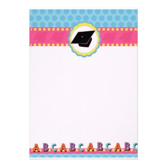 Whimsical Dots Preschool/Kindergarten Graduation invitation