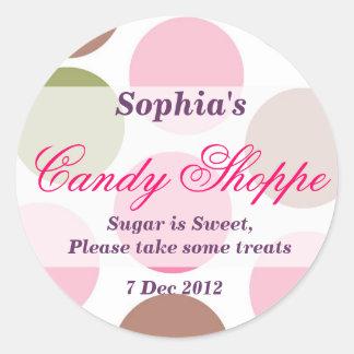 Whimsical Dotty Candy Shoppe Sticker