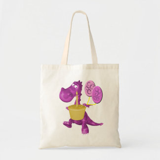 Whimsical Dragon Cupcake Balloons Tote Bag