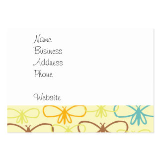 Whimsical Dragonfly Line Art Butterflies Large Business Cards (Pack Of 100)