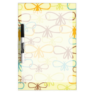 Whimsical Dragonfly Line Art Butterflies Dry-Erase Board