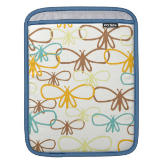 Whimsical Dragonfly Line Art Butterflies iPad Sleeves