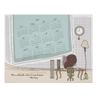 Whimsical Dreamscape Calender 2011 Poster Print