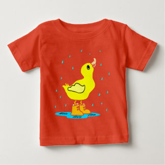 Whimsical Duck Rain Shower on Infant T-Shirt