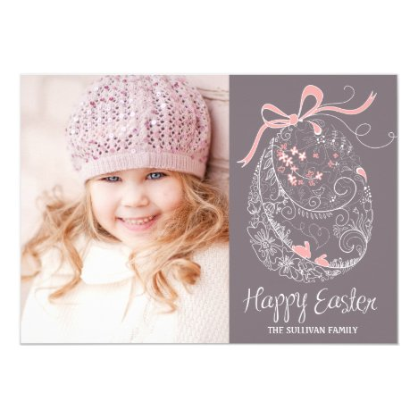 Whimsical Easter Egg   Happy Easter Flat Card