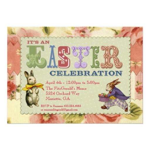 Whimsical Easter Party Invitation