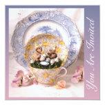 "Whimsical Elegance 5.25"" Square Invitation Card"