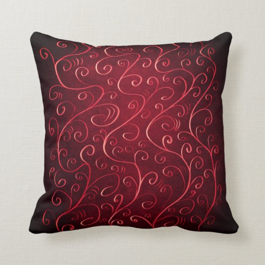 Whimsical Elegant Textured Red Swirl Pattern