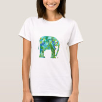 Whimsical Elephant Custom Tee