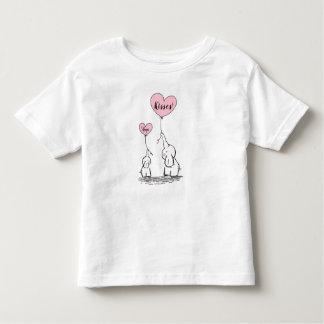 Whimsical Elephants Hugs And Kisses Toddler T-shirt