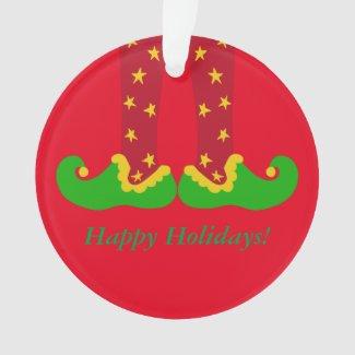 Whimsical Elf Legs Christmas Ornament