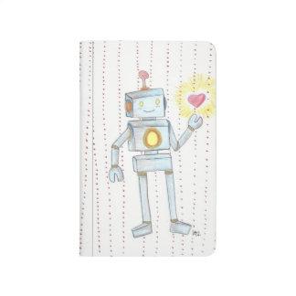 Whimsical Empathy RobotPersonalizedPocket Notebook