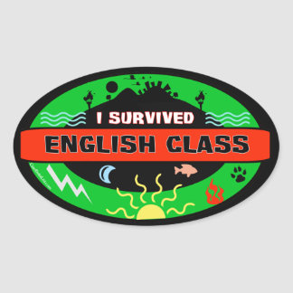 Whimsical English Class Survivor Sticker