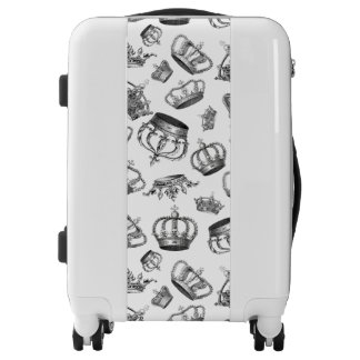 Whimsical Engraved Royal Crown Pattern Luggage