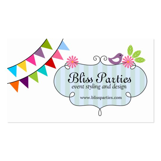 Whimsical Event Styling and Design Business Cards