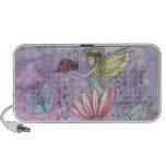 Whimsical Fairy and Ladybug Doodle Speaker