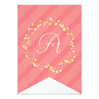 Whimsical Fairy Princess Birthday Party Bunting Invites