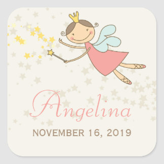 Whimsical Fairy Princess Birthday Party Gift Tag