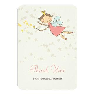 Whimsical Fairy Princess Girl Birthday Thank You Card