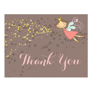 Whimsical Fairy Princess Girl Birthday Thank You Postcard